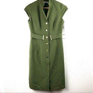 Calvin Klein NWT Green Dress